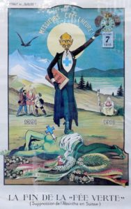 Poster critical of the ban on absinthe by Albert Gantner, 1910