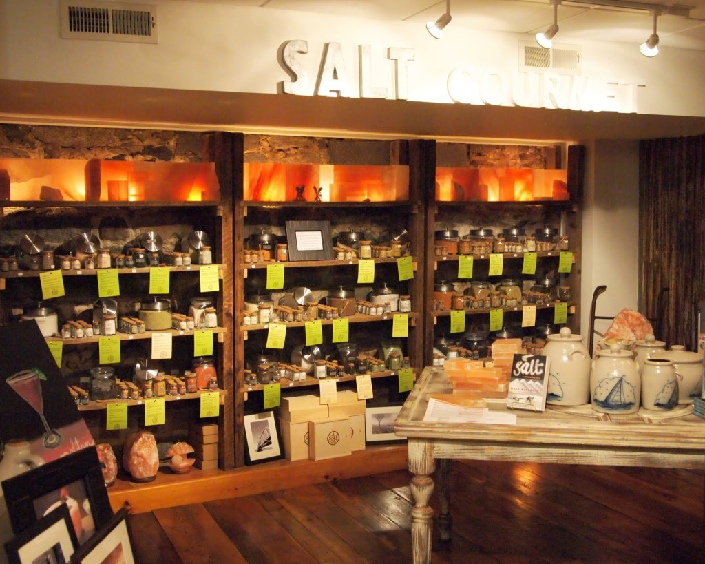 The extensive selection of salts at Salt Cellar