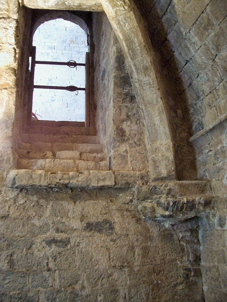 The remaining stairs to the bedchambers, where the nuns slept in their clothes and kept a candle lit so that they could be ready to pray at a moment's notice. Photo: Pamela O'Neill