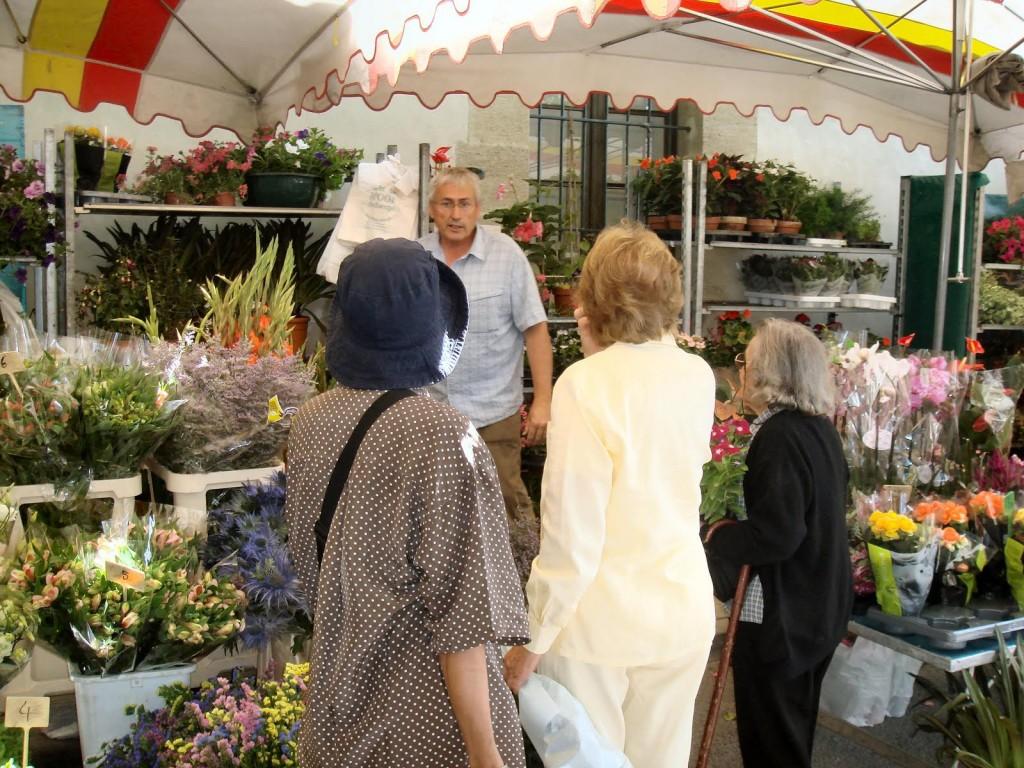 Florist at Lourmarin Market