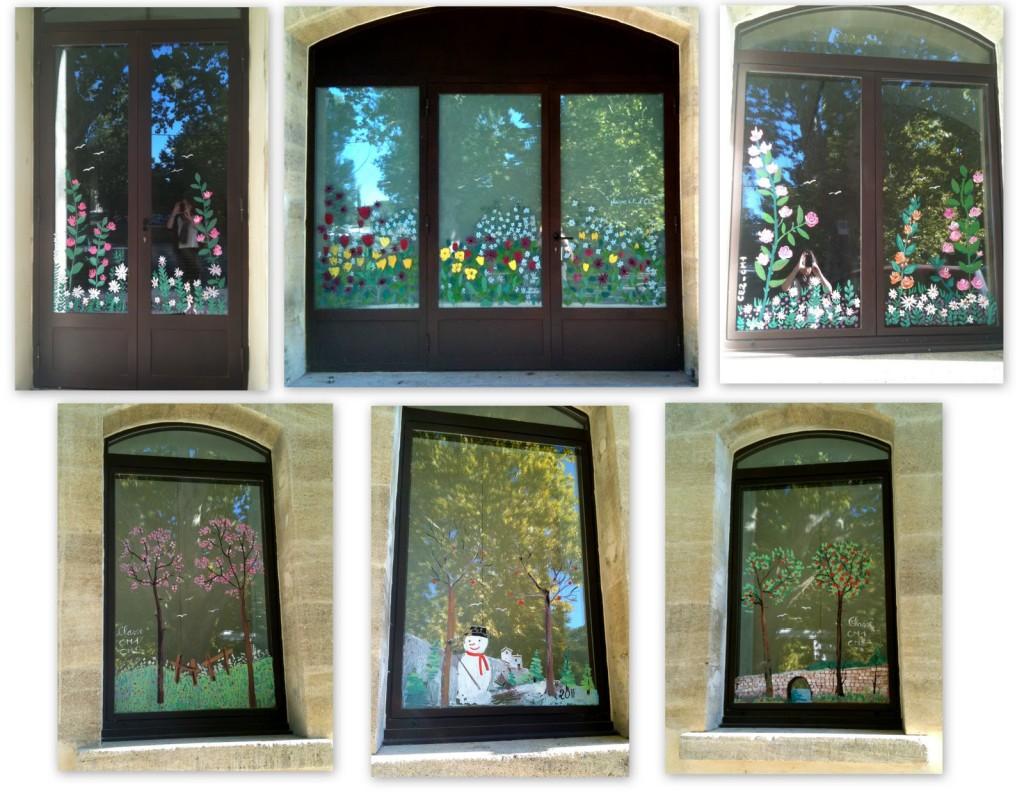 Danielle Bonniol worked with children to paint windows at l'Espace Camus