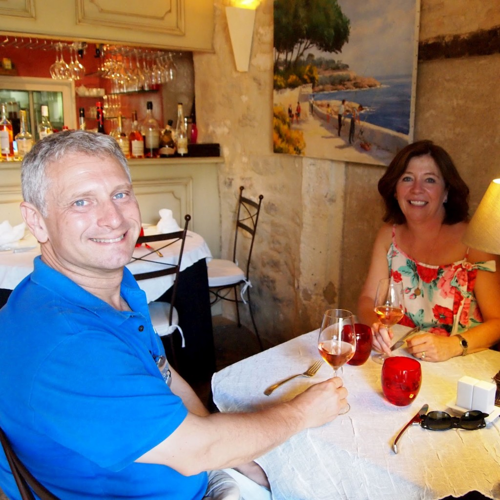 Towny and Susan at l'Arome in Bonnieux