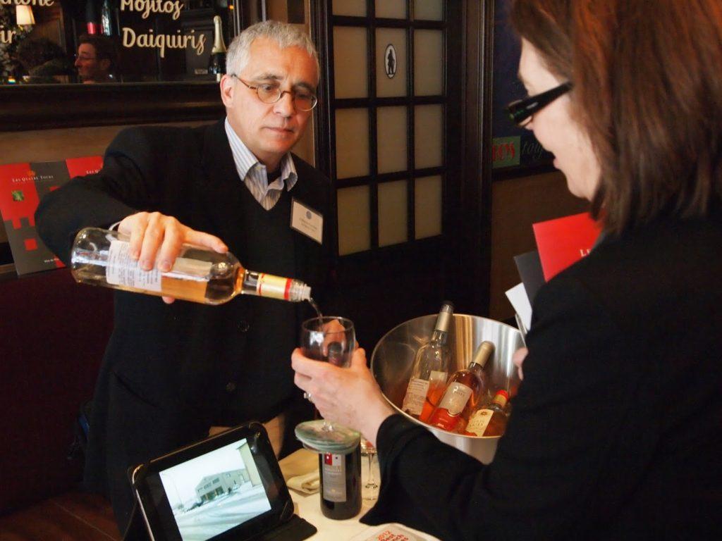 Les Quatre Tours Winery served two very pleasant rosé wines.