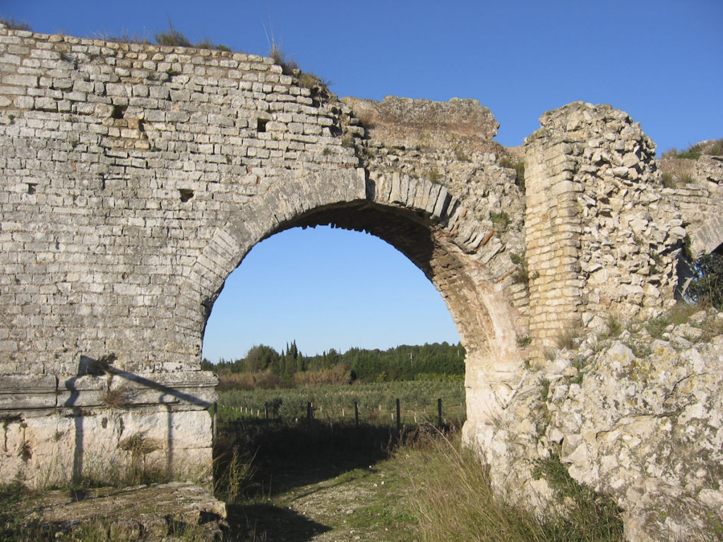 The remains of an Aqueduct at Le Barbegal
