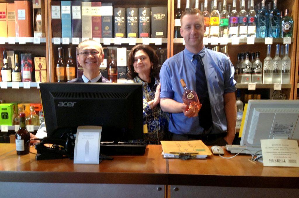 Wine consultants at Morrell Wine Store - Yung Leung, Harriet Hendler, Ken Maykut