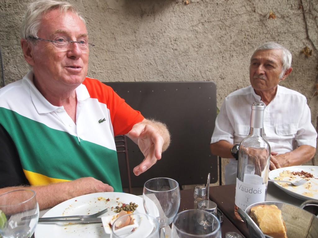 Lunch with Walter Geiser and Claude Aurouze