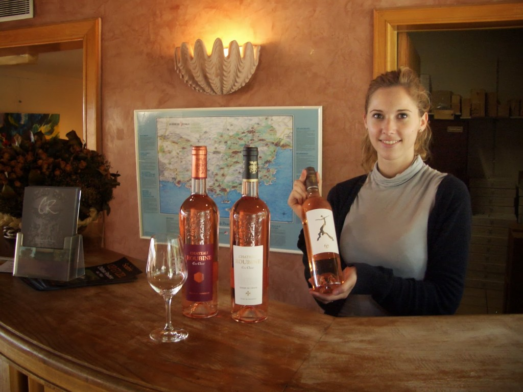 Marine Seon, Assistant Commercial Touristique, leading a wine tasting at Château Roubine