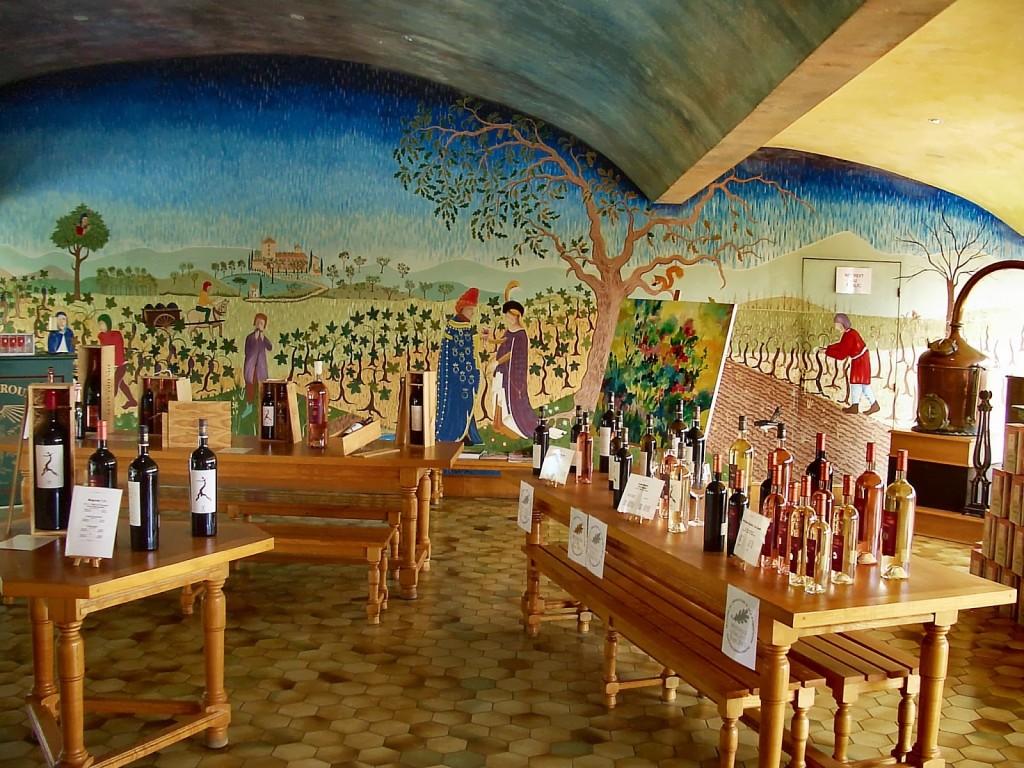 The Tasting Room at Château Roubine. Photo by Pamela O'Neill