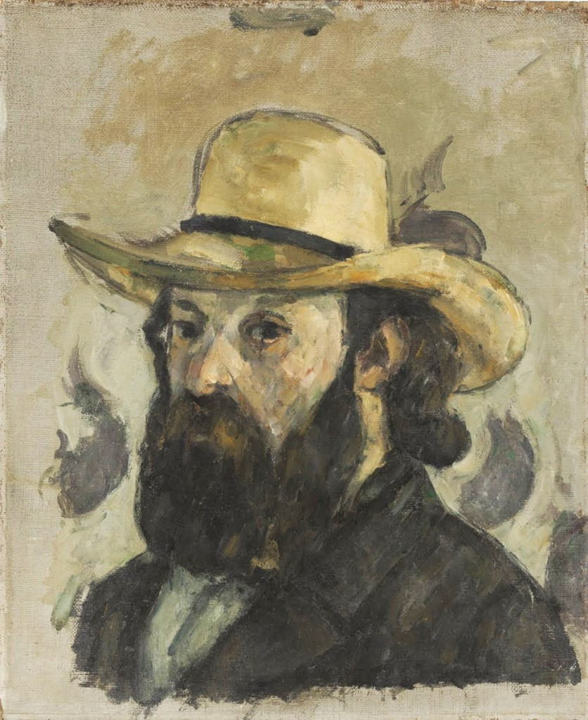 Paul Cézanne French, 1839 - 1906 Self-Portrait in a Straw Hat, 1875-76 oil on canvas 13 3/4 x 11 3/8 inches © The Museum of Modern Art, New York. The William S. Paley Collection