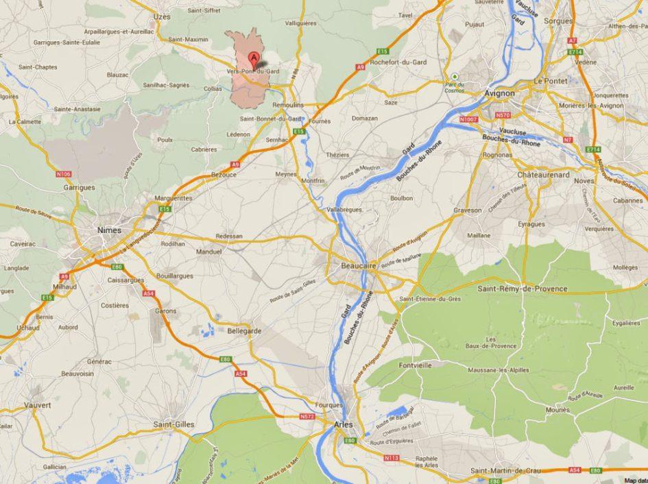 Pont du Gard, Vers-Pont-du-Gard, France - Google Maps - Windows ...