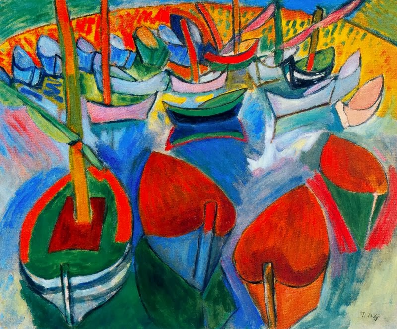 Boats at Martigues by Raoul Dufy, 1908